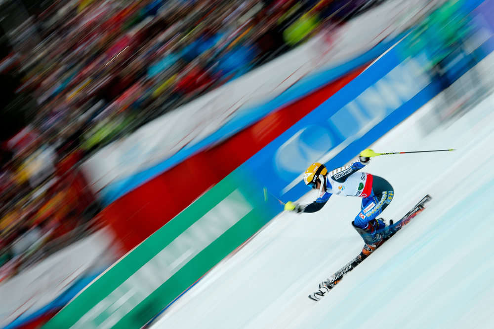 . Sweden\'s Frida Hansdotter skis during the second run of the women\'s slalom at the 2013 Ski World Championships in Schladming, Austria on February 16, 2013.  OLIVIER MORIN/AFP/Getty Images