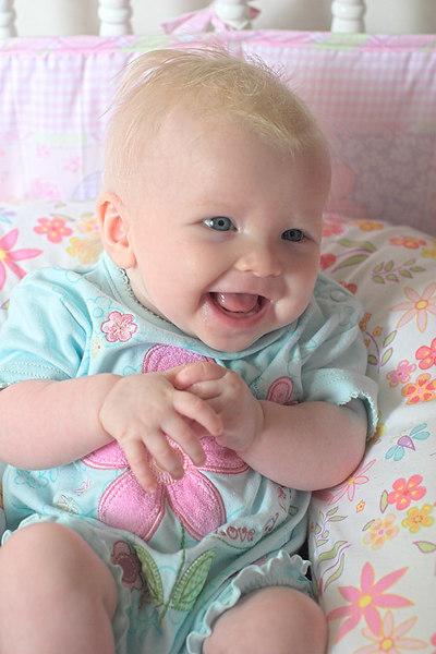 Chloe on her 4-Month Birthday, July 29th 2006