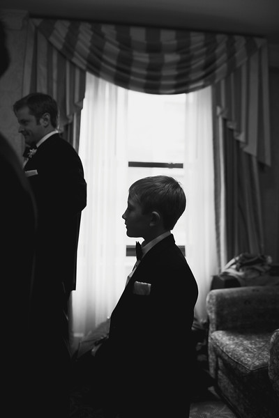 Le Cape Weddings - Chicago Cultural Center Weddings - Kaylin and John - 06 Groom and Groomsmen Getting Ready 30