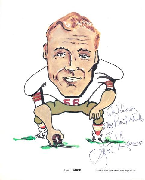 1972 Compu-Set Redskins Len Hauss