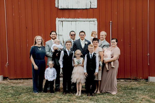 Groom w/ Family + Bridesmaids