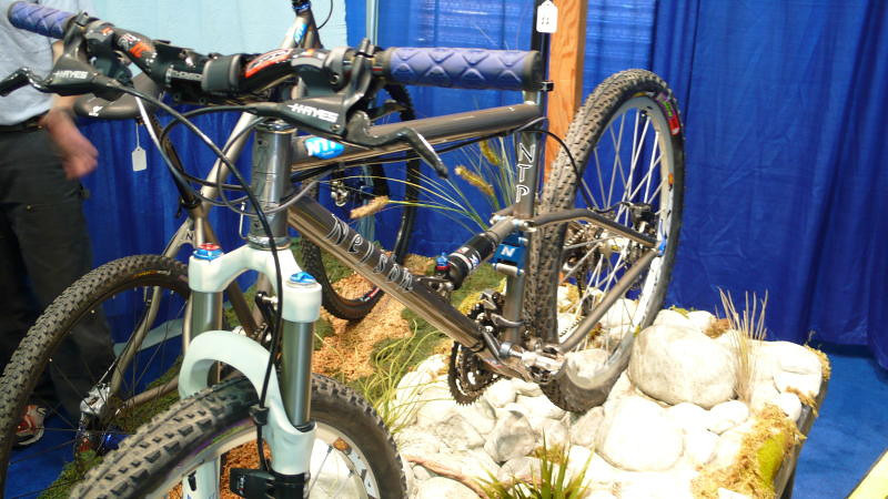 Nelson - We didn't get a chance to talk with the folks at NTP, but you have to like the display for their bike.