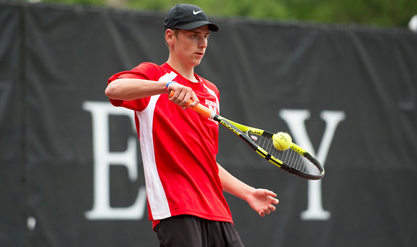 05/31/19 Wesley Bunnell | Staff Berlin's Jon Trevathan won the Class M singles championship with his victory on Friday afternoon played at Wesleyan University.