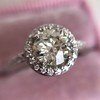 1.19ctw Old European Cut Diamond Halo Ring by A Jaffe 10