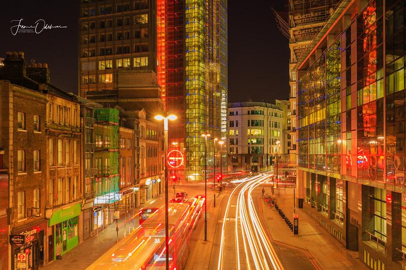 Night Photography Wormwood Street London 18 February 2017