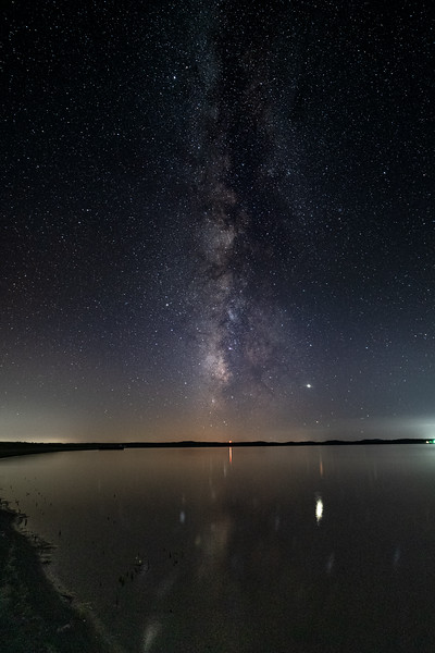 The Mississippi River under the Milky Way
