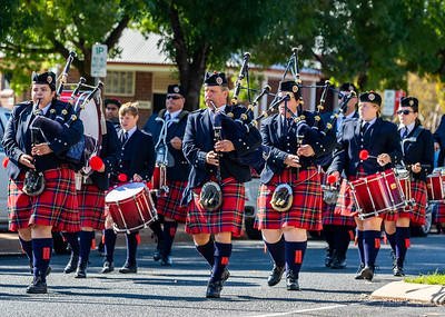 2019 ANZAC Day Pipes and Drums Band