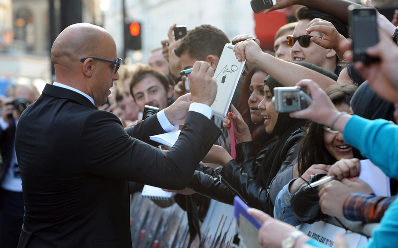 """. Actor Vin Diesel attends the \""""Fast & Furious 6\"""" World Premiere at The Empire, Leicester Square on May 7, 2013 in London, England.  (Photo by Stuart C. Wilson/Getty Images for Universal Pictures)"""