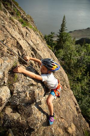 Family Rock Climbing - Glaks Place 08/20/20