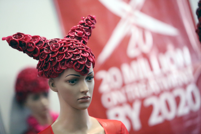 21st International AIDS Conference (AIDS 2016), Durban, South Africa. Monday 18th July 2016, VENUE : Global Village Dresses made out of condoms being displayed Photo©International AIDS Society/Abhi Indrarajan