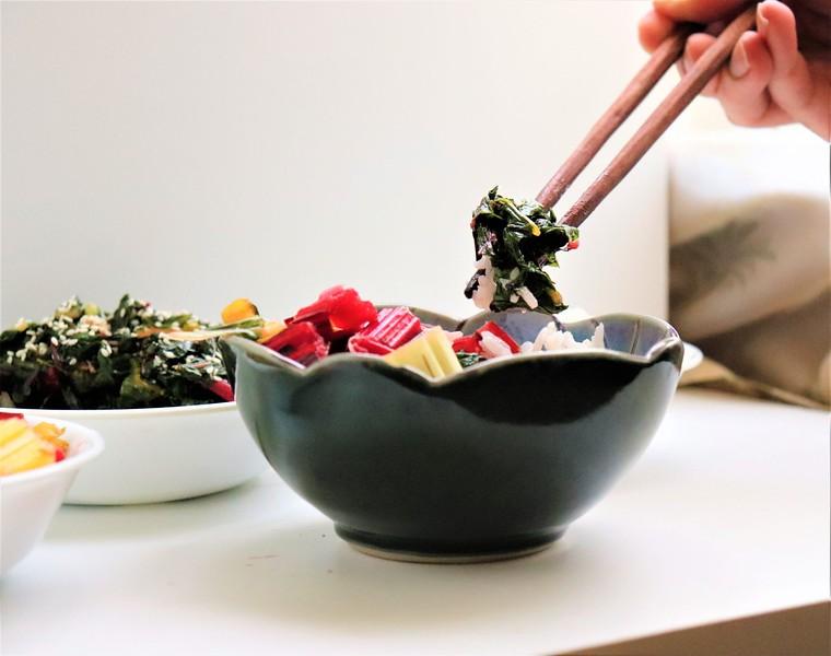 Swiss Chard: Ohitashi & Japanese Pickled Stems
