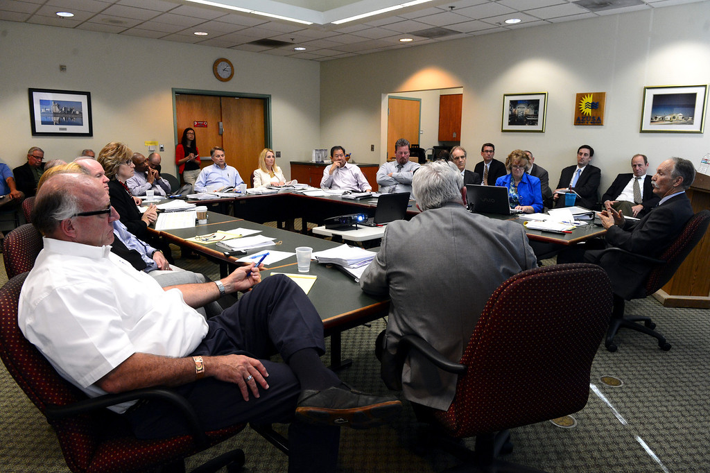 . Sierra Madre and Arcadia officials go before the Raymond Basin Management Board Thursday, March 13, 2014 as Sierra Madre accuses Arcadia of stealing water out of their aquifer in the eastern unit of the Raymond Basin. The well is dispute is Arcadia\'s Anoakia Well.  (Photo by Sarah Reingewirtz/Pasadena Star-News)