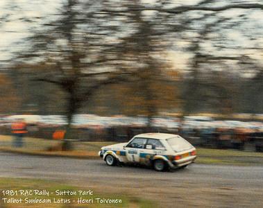 RAC Rally 1981 Sutton Park