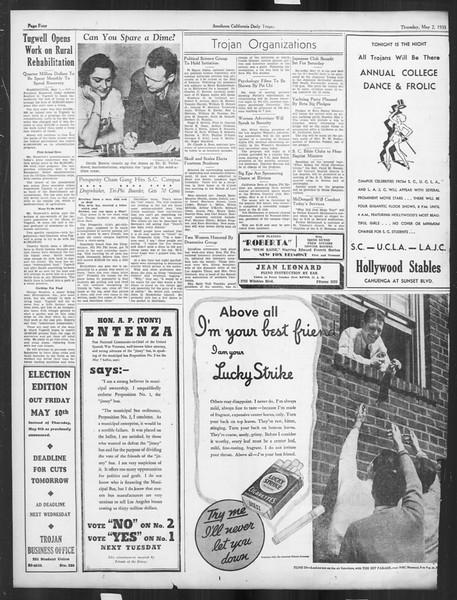 Daily Trojan, Vol. 26, No. 129, May 02, 1935