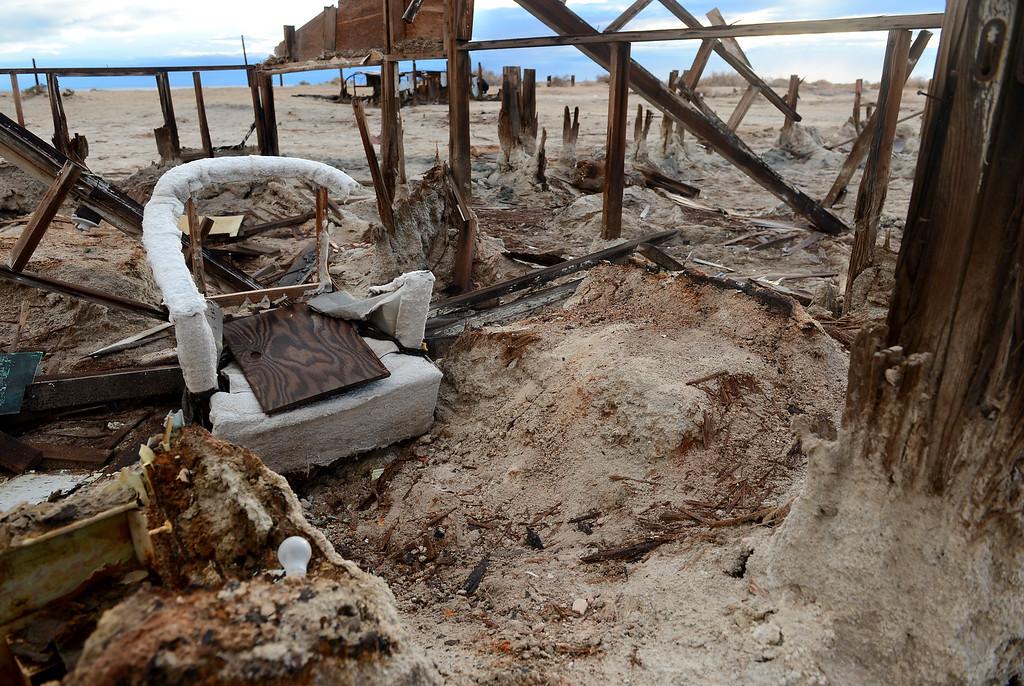 . Bombay Beach, near the Salton Sea, CA., Friday, November 22, 2013. (Photo by Jennifer Cappuccio Maher/Inland Valley Daily Bulletin)