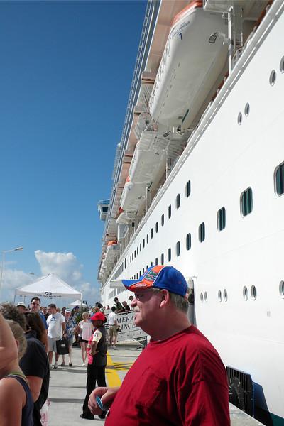 Disembarking in St. Maarten, Netherlands Antilles