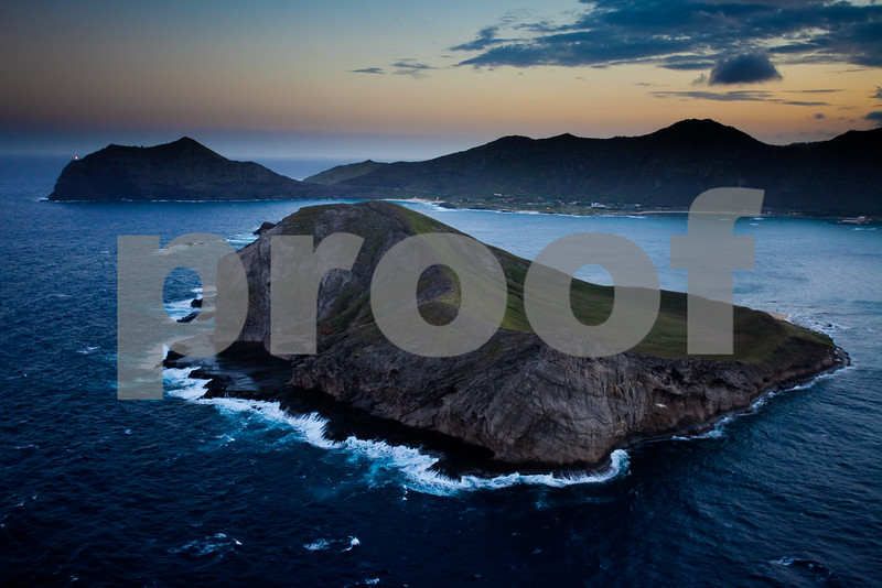 "Manana or ""Rabbit"" Island at twilit."