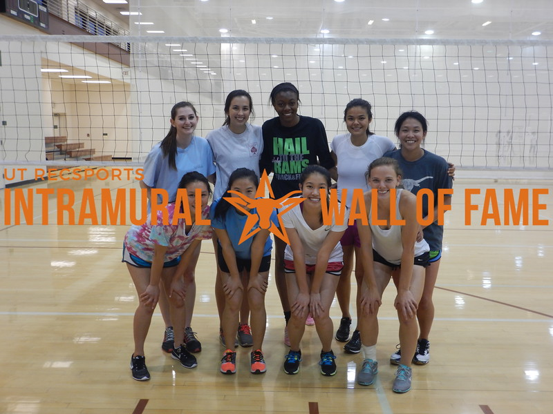 Spring 2016 Volleyball Women's A Champion Big Digs
