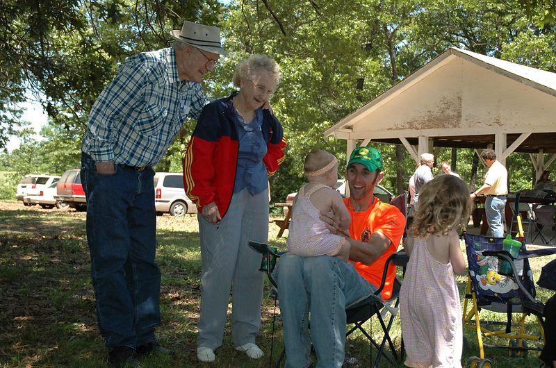 Grandpa, Grandma, Noel, and Lily.