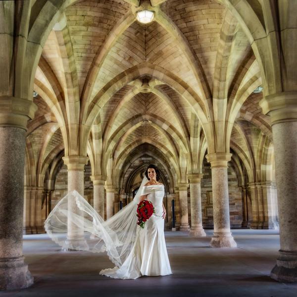 Glasgow Uni Wedding Photograph