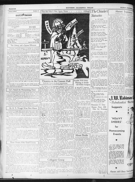 Daily Trojan, Vol. 23, No. 57, December 04, 1931