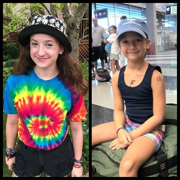 Last summer as a camper on the left side-by-side with her first summer on the right 8 years ago. Equal levels of excitement but for different reasons. The time just flies...