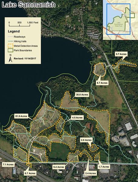 Lake Sammamish State Park (Metal Detection Areas)