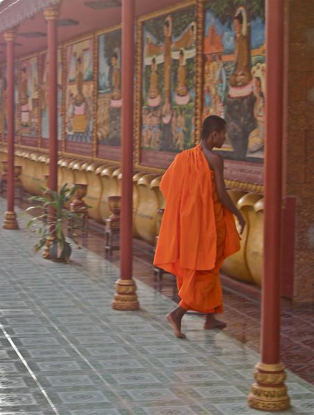 Monk at Wat Preah Prohm Rath Pagoda