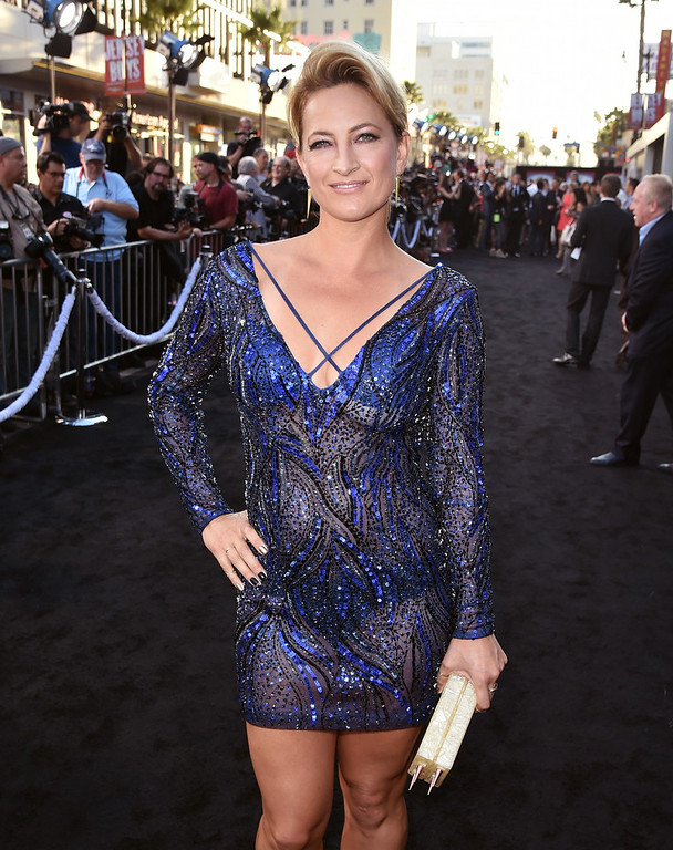 ". Actress Zoe Bell attends the premiere of Lionsgate Films\' ""The Expendables 3\"" at TCL Chinese Theatre on August 11, 2014 in Hollywood, California.  (Photo by Kevin Winter/Getty Images)"