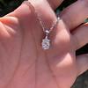 1.11ct Pear Shape Diamond Pendant GIA E VVS2 12
