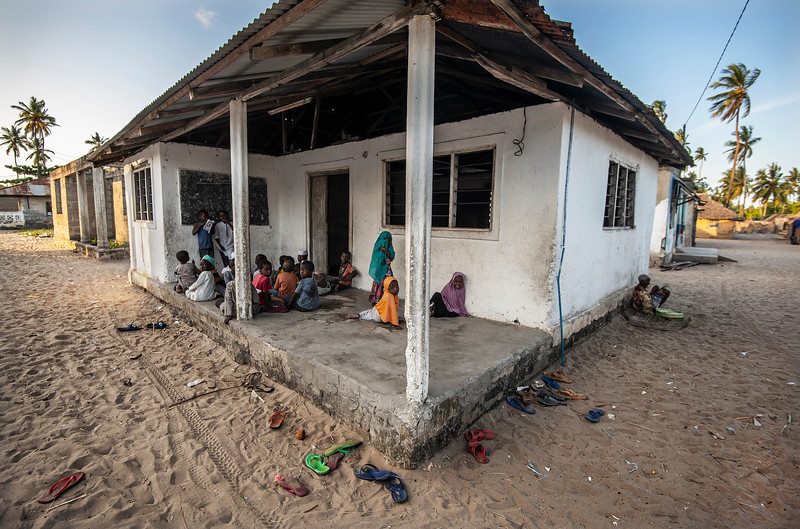 Koranic school in a small fishing village south of Pangani.   Tanzania, 2019