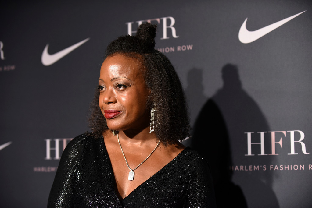 . Designer Tracy Reese attends a fashion show and awards ceremony held by the Harlem Fashion Row collective and Nike before the start of New York Fashion Week, Tuesday, Sept. 4, 2018. (AP Photo/Diane Bondareff)