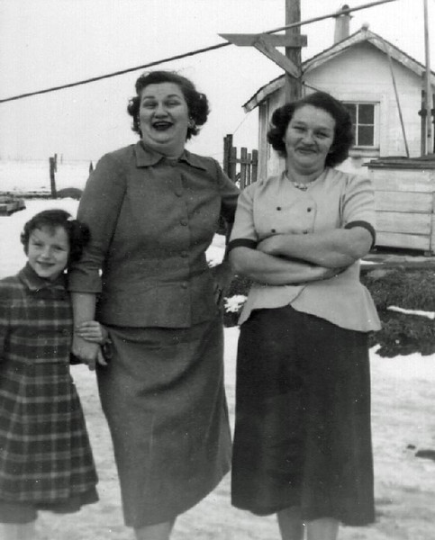 Sally and Marilee Giese and Blanche Nowak