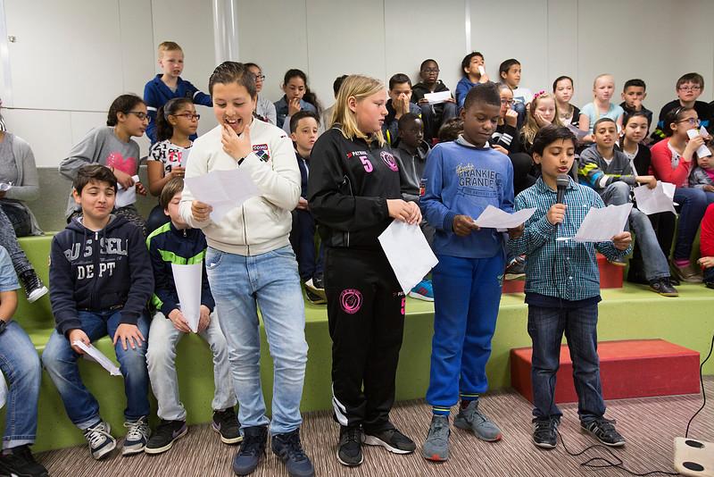 presentatie Klimop school. OIMB 24 april 2015, foto: Katrien Mulder
