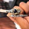 4.50ctw Sapphire and Diamond Serpent Bangle 5