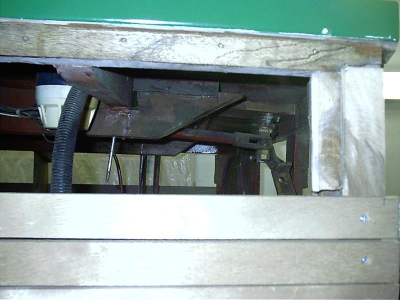 Side view of engine stringer removed.