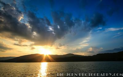 Lake Jocassee South Carolina full Moon sail 7-11-14