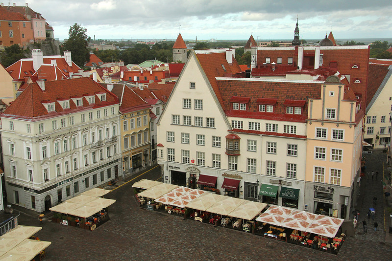 Overlooking Town Hall Square from the tower of the Town Hall Building -Tallinn, Estonia