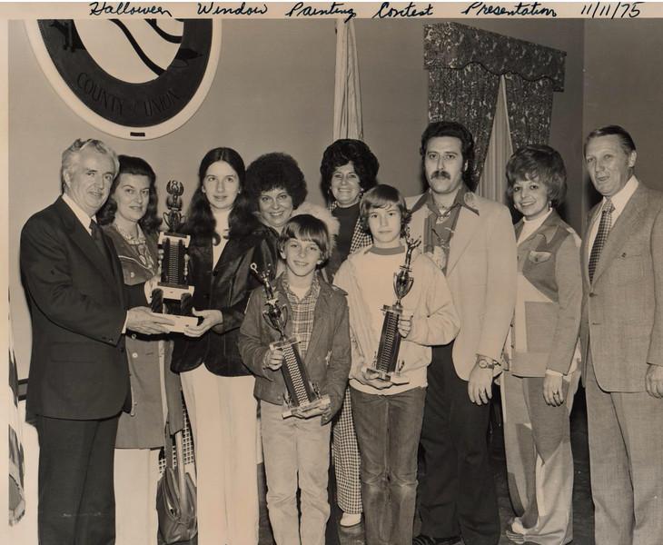 Halloween Window Painting Contest Union Center 1975