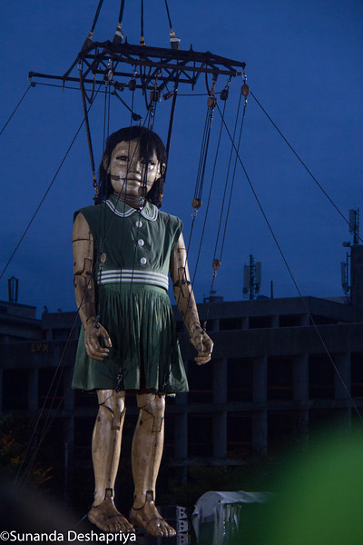 Giant marionettes on parade in Geneva