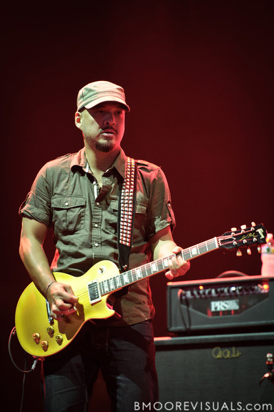 Joey Santiago of Pixies performs at The Citrus Bowl in Orlando, Florida during Orlando Calling on November 12, 2011