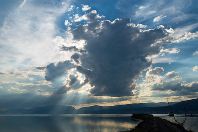 Vertikale Wolken