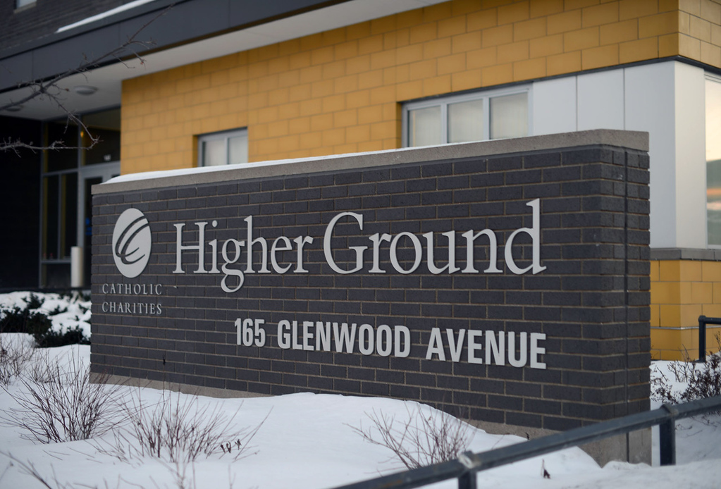. Higher Ground, which cost $18 million to construct and opened in 2012, is modeled around the idea that in order for homeless clients to find jobs, training and permanent housing, they first need first need access to basic shelter, food and everyday services.  (Pioneer Press: Chris Polydoroff)
