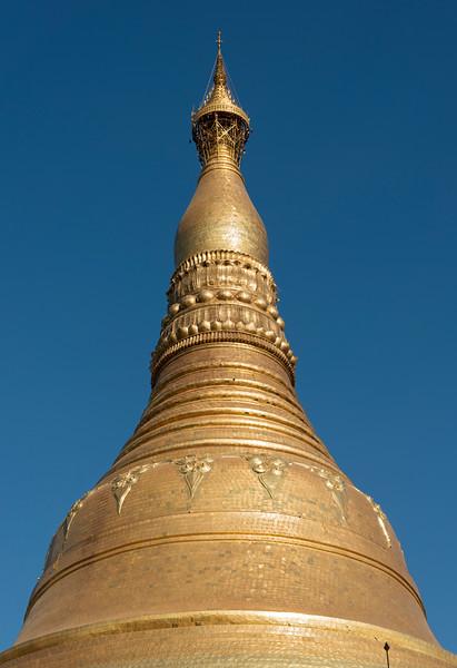 Golden spire of Shwedagon Pagoda, Yangon (Rangoon), Myanmar (Burma)