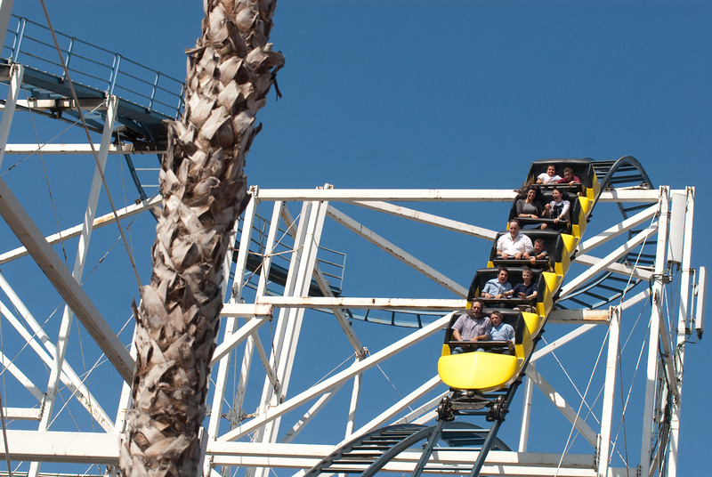 Everyone in the roller coaster is an Orthodox Jew. It is Chol'moed Succas a time when families give all their free time to bonding with their children. Peace in the home, raising children in the ways of Torah are to fundamental foundations of the survival of the religion.