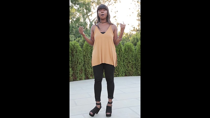 alyssa black pants