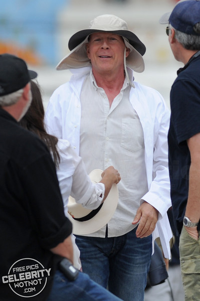 EXCLUSIVE: Bruce Willis Sends Assistant To Buy Sun Hat During Filming!