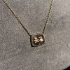 'For You I Live' 18kt Rose Gold Cast Rebus Pendant, by Seal & Scribe 11