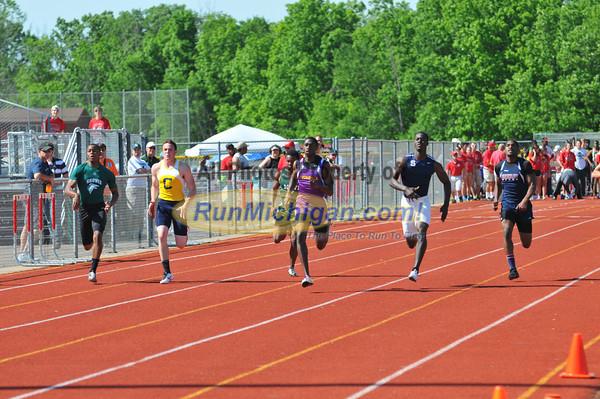 100 Meter Prelims - 2012 Oakland County Track Meet