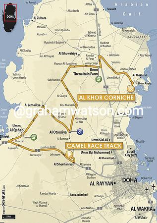 Tour of Qatar:  Stage 4 Camel Race Track > Al Khor Corniche, 160 kms
